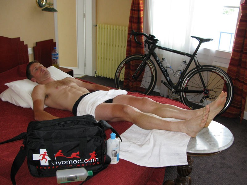 Ready for a massage after another big day in the saddle
