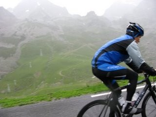 Martyn is too fast for his photographer on theTourmalet