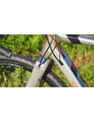 Masi's cable management system allows for cable or Di2 and has space for up to three cables to the rear of the bike
