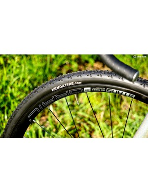 Kenda Kommando tires are a fast-rolling, 33mm diamond-tred tire