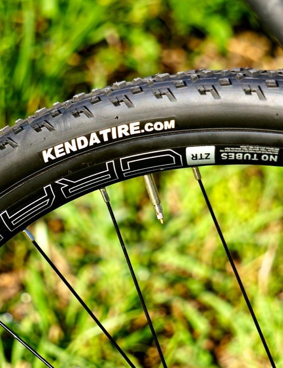 Kenda Kommando tires are a fast-rolling, 33mm diamond-tred tire