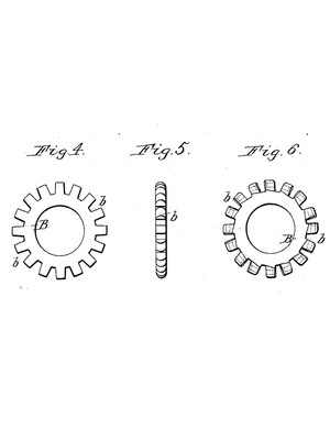 Punching recesses in the flange rings creates the