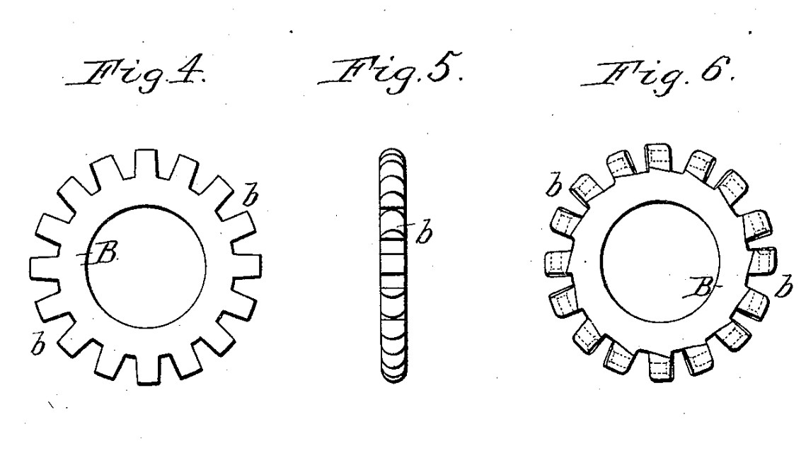 "Punching recesses in the flange rings creates the ""lugs"" which receive the spokes"