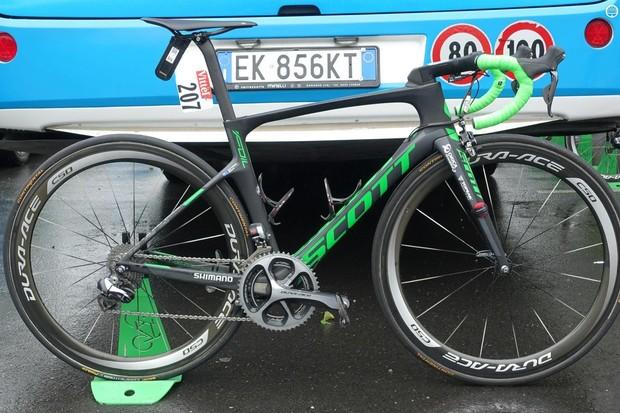 Michael Matthews won his first ever Tour de France stage win aboard a Scott Foil