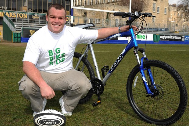 Bath and England rugby star Matt Stevens is supporting the Big Bike Ride