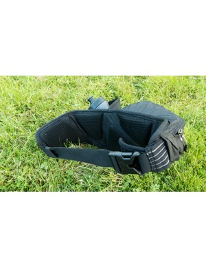 The contoured back pad helps the pack sit nicely without bouncing about