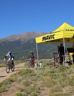 Mavic provided neutral support at the Leadville Trail 100, where more than a few riders needed mechanical help