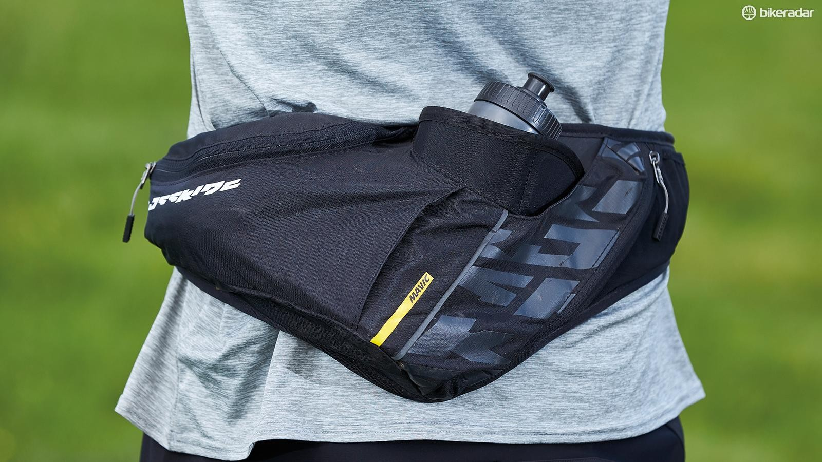 The Mavic Crossride bumbag has just enough carrying capacity for rides of a few hours