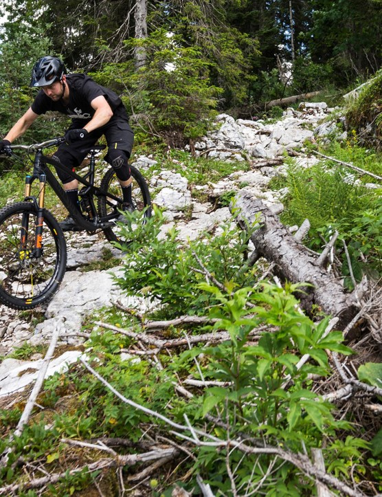 The natural rocky trails around Annecy love abusing wheels