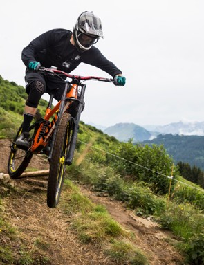 Testing out the Deemax DH wheels in La Clusaz, France