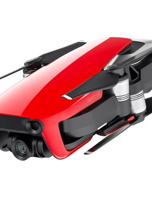 The drone is available in 3 colours: black, white and red