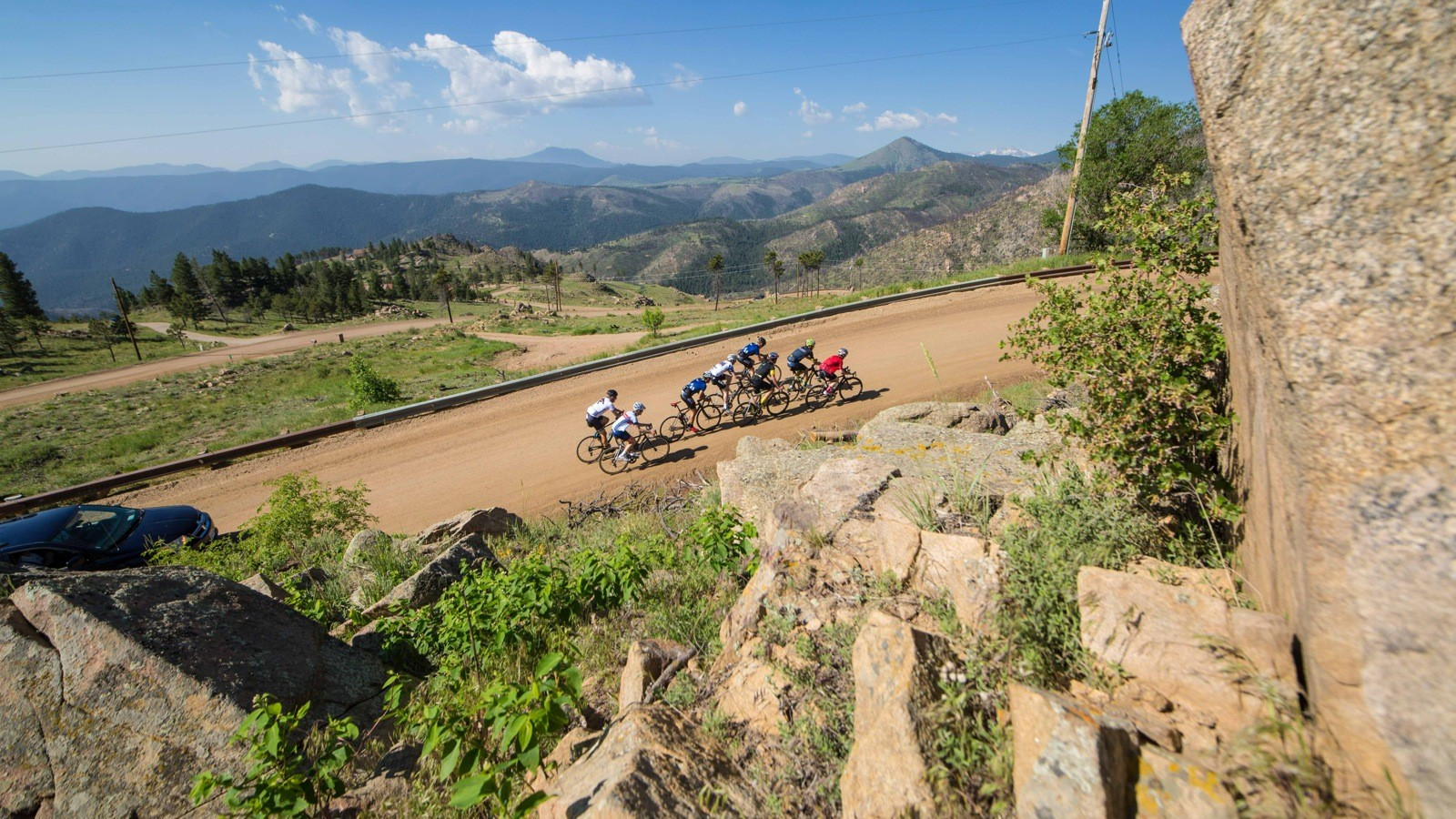 Most of the dirt roads are smooth, hardpacked and definitely doable on 25-28mm tires