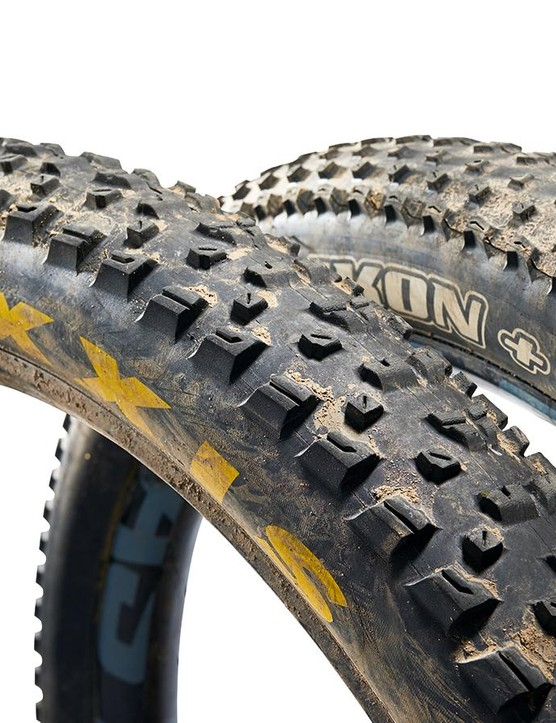 The trail-taming combo both feature an expanded version of Maxxis' Exo casing