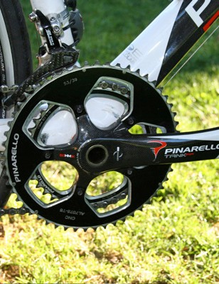 The sole exception to the Record groupset is a MOst Tank chainset with 53 and 39T rings.