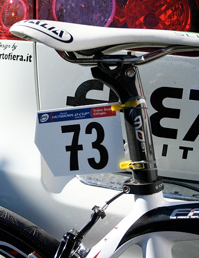 Bastianelli's bike is numbered up and ready to roll.
