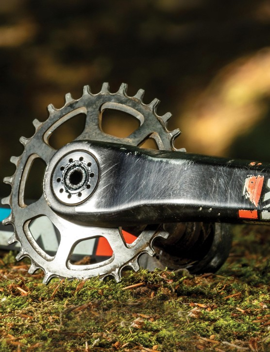 15 single-ring cranksets tested