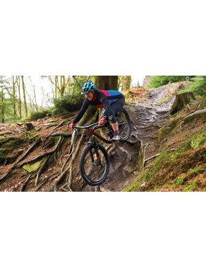 Rebecca Smith testing the Liv Intrigue in the Forest of Dean