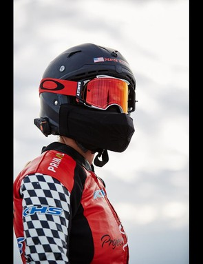 Mueller-Koronek wore a full safety suit and full face helmet for the record