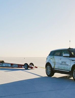 A Range Rover Evoque was used as a pace car
