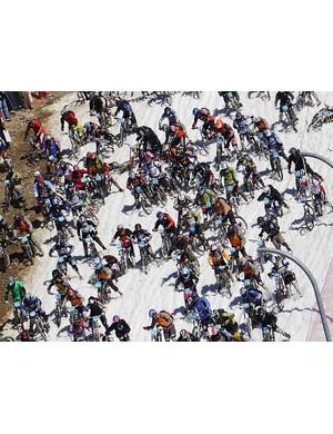 Megavalanche race action