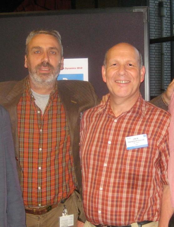 From left: Jaap Meijaard, Arend Schwab, Jim Papadopoulos and Andy Ruina (fifth team member J.D.G. Kooijman not present)