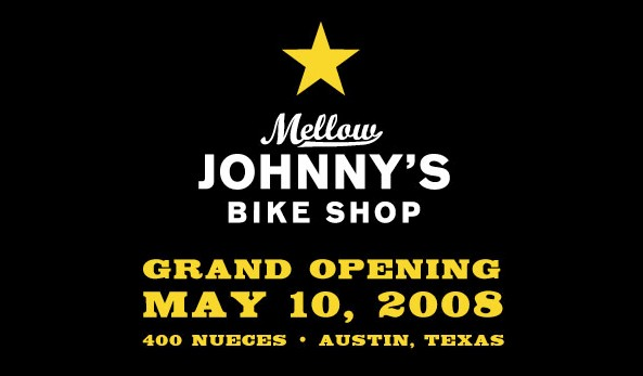 Mellow Johnny's bike shop, opening May 10.