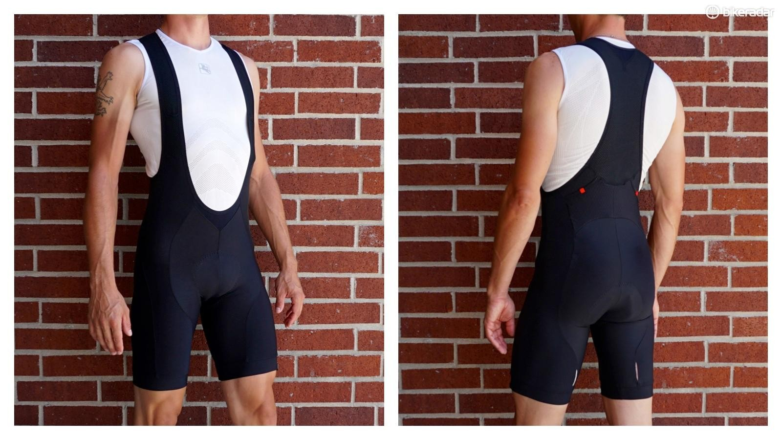 Bibshorts are popular with cyclists as they sit comfortably in place thanks to the shoulder straps
