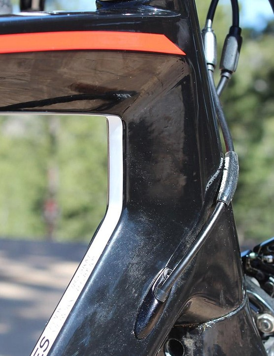 The Sallanches 64 head tube is on the taller side of road bikes