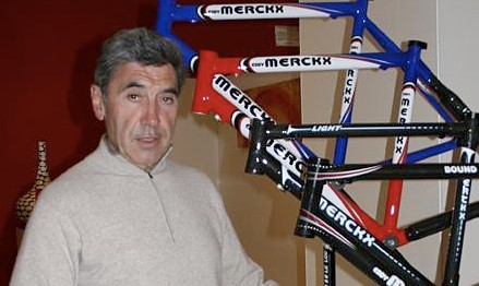 Eddy Merckx, the best cyclist in history.