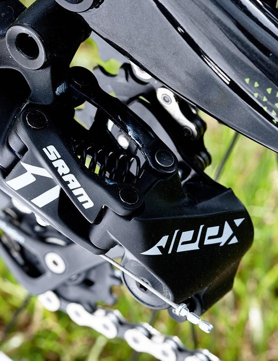 The Apex 1 rear mech ensures crisp, clean shifting