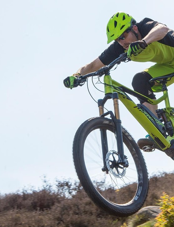 The eOne-Sixty looks a lot like Merida's One-Sixty enduro bike, and it's just as fun on the descents