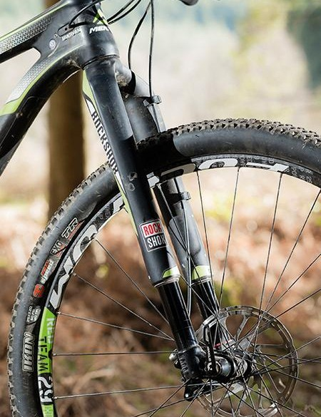 RockShox's upside-down RS-1 fork is great in a straight line but flexy in the turns