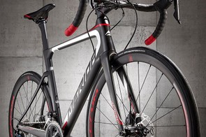 The tall head-tube uses a teardrop section, which is chopped off square at the trailing edge
