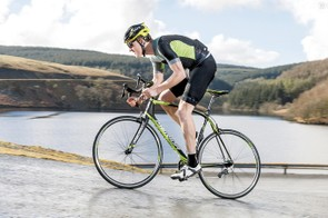 The frame and fork form an outstanding pairing, delivering a rock-solid pedalling platform