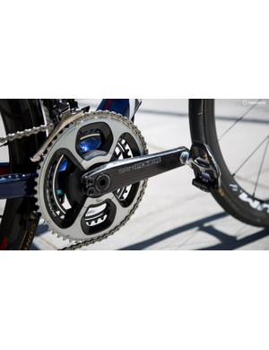 The Bahrain-Merida team is equipped with SRM's new power meter crankset