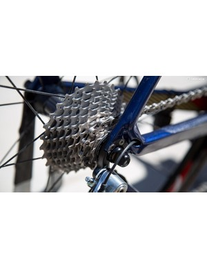 Visconti runs a Dura-Ace 11-speed cassette with 11-28 cogs