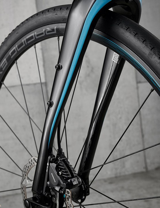 Carbon fork aids comfort when the roads get rougher