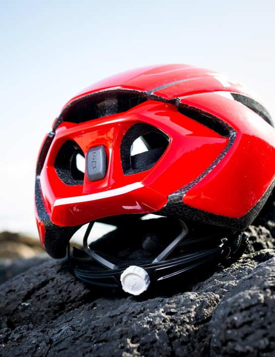 It's designed around the Venturi effect — when fluid hits a choke point it accelerates. For a helmet, this means when air enters through the vents it should speed out the back