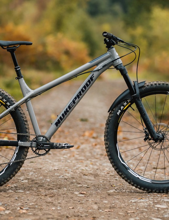 The Nukeproof Scout 275 is an aggressive trail hardtail