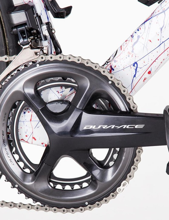 Swift uses Shimano's Dura-Ace R9100-P crankset with integrated power meter