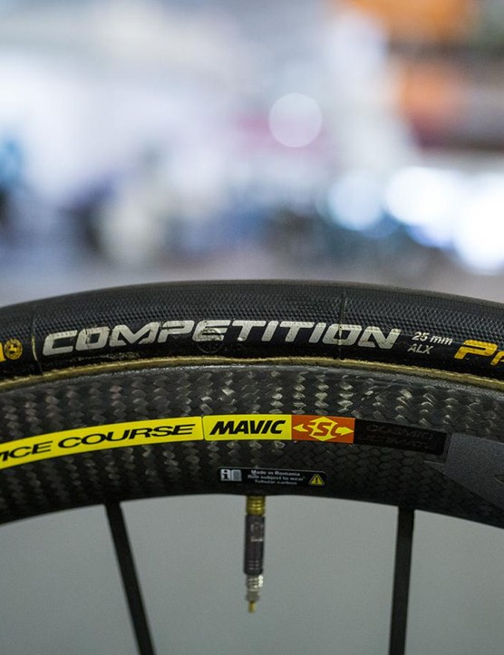The French WorldTour team use the popular Continental Competition ALX tubular tyres