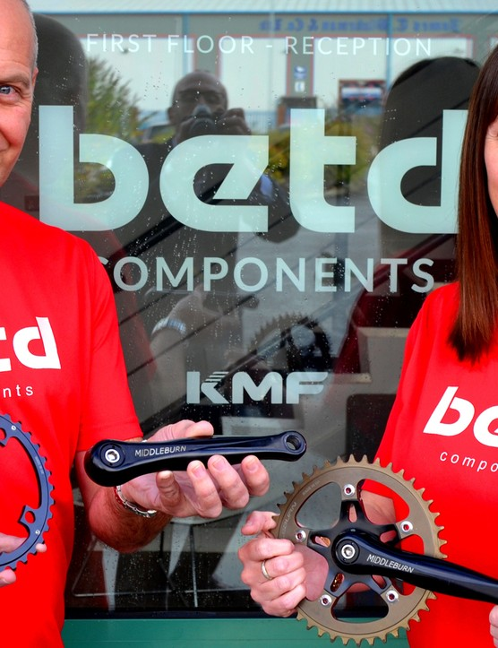 BETD Managing Director Kate Lewis, right and Paul Hadgett from BETD with Middleburn components