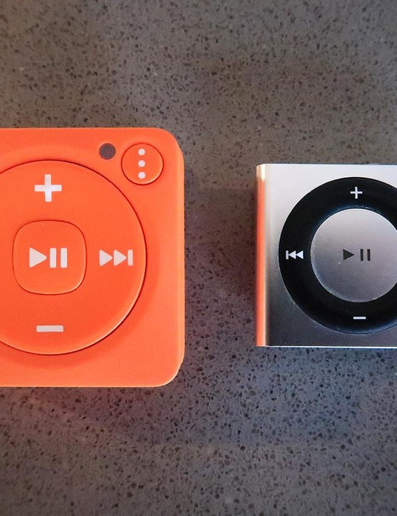 It's about double the size of an iPod Shuffle, but the Mighty is packed with more functionality, too