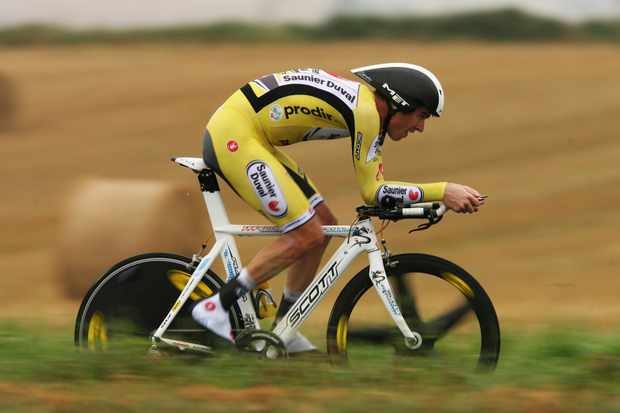 David Millar in action in the Tour de France
