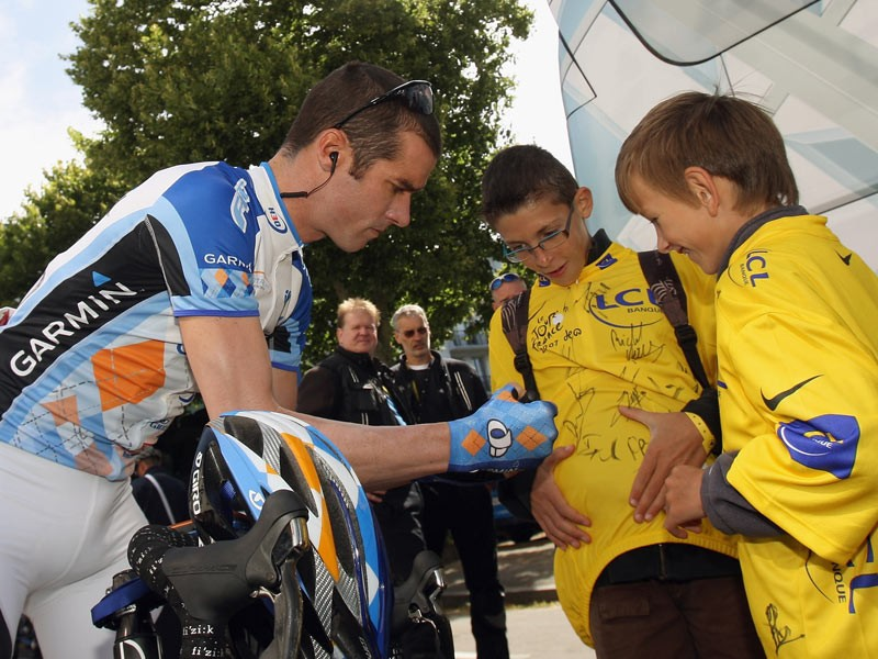 David Millar hopes to be wearing a yellow jersey before long, rather than just signing one