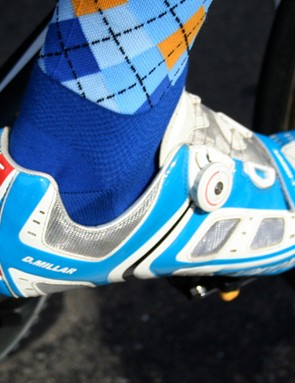 David Millar (Garmin-Chipotle) is no shrinking violet with this British pair from Specialized.