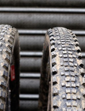 For trail 5, we used a 29x2.3in Maxxis  Minion DHF EXO on the front, with the Specialized Slaughter Grid on the rear