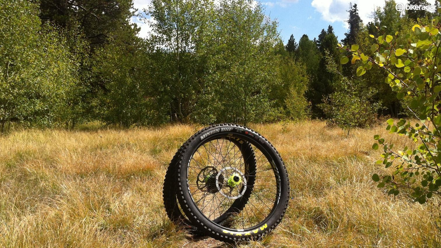 """The 2.8"""" Maxxis Minion Plus is one of the most aggressive Plus tyres, but even the mid EXO casing is no flyweight"""