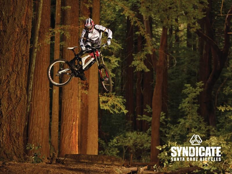 Greg Minnaar catching a bit of air.