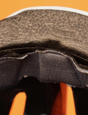 When forehead pads wear down, the sharp edge of a MIPS liner becomes apparent